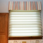 Box Pleat fabric custom draperies with a vignette shade by A Shade Above Millville DE
